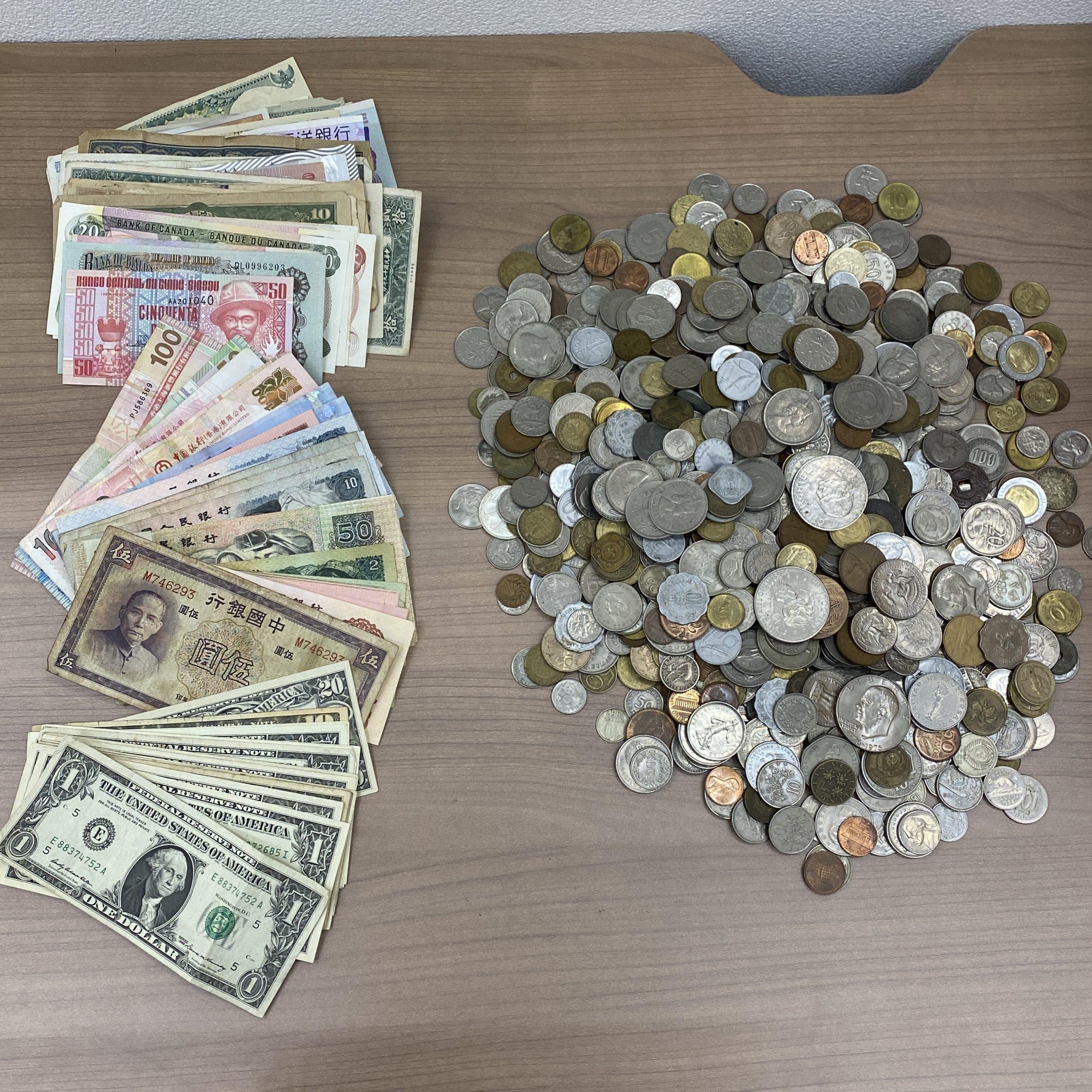【外国銭おまとめ】硬貨/紙幣 アメリカドル/中国元/韓国ウォンetc