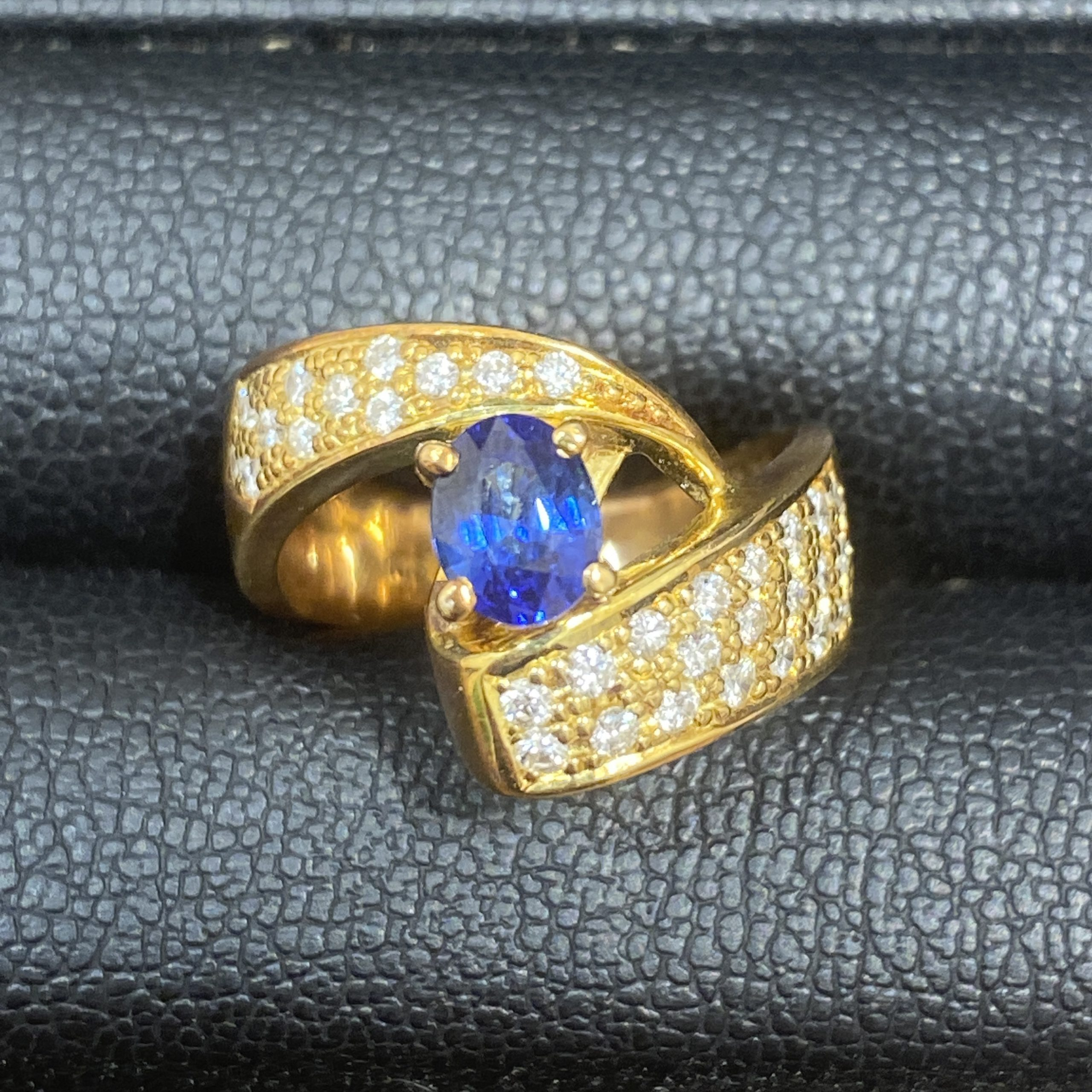 K18 リング S0.94ct MD0.2ct