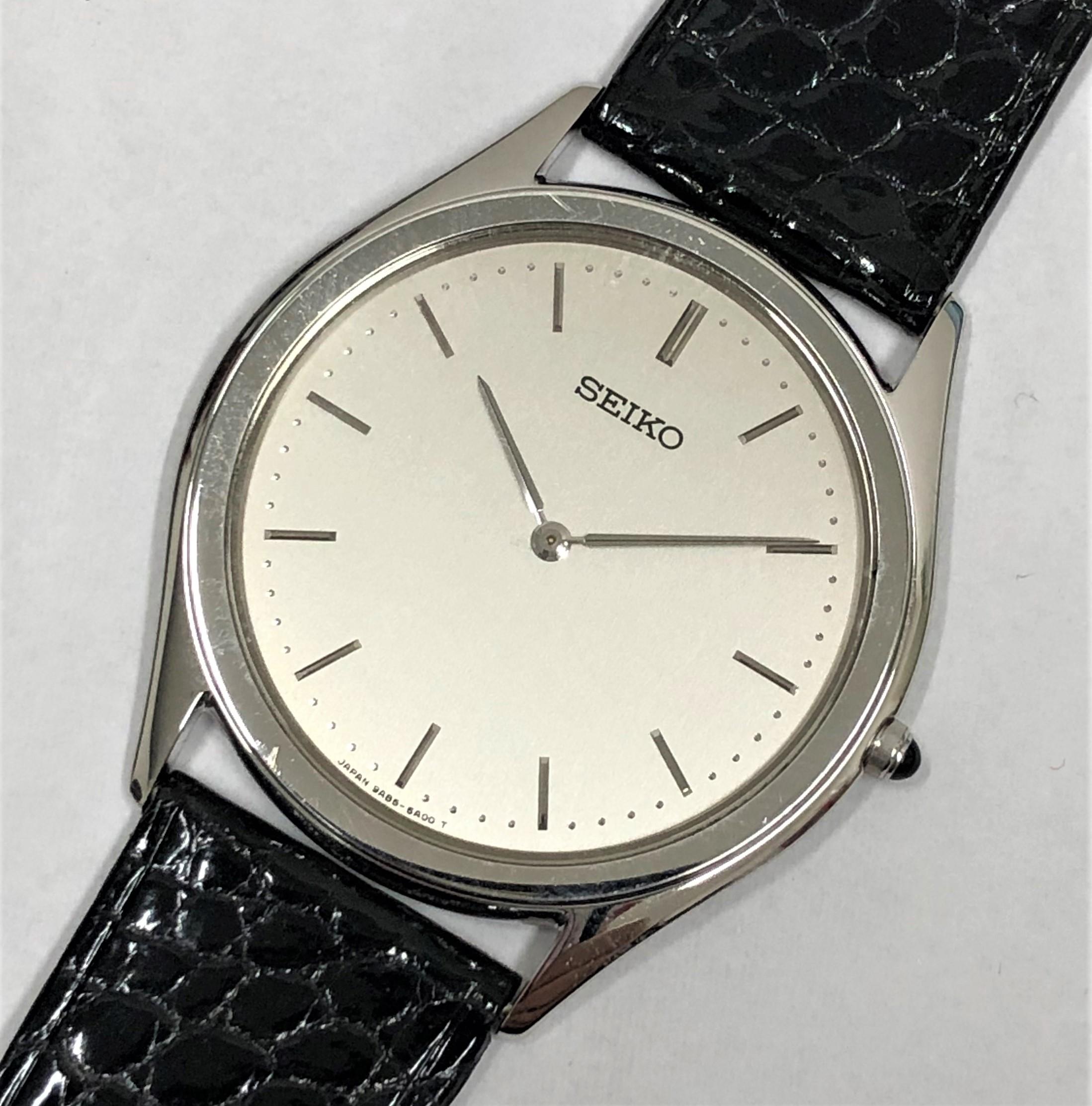 【SEIKO/セイコー】20周年記念 K18 9A85-6A00 QZ 腕時計