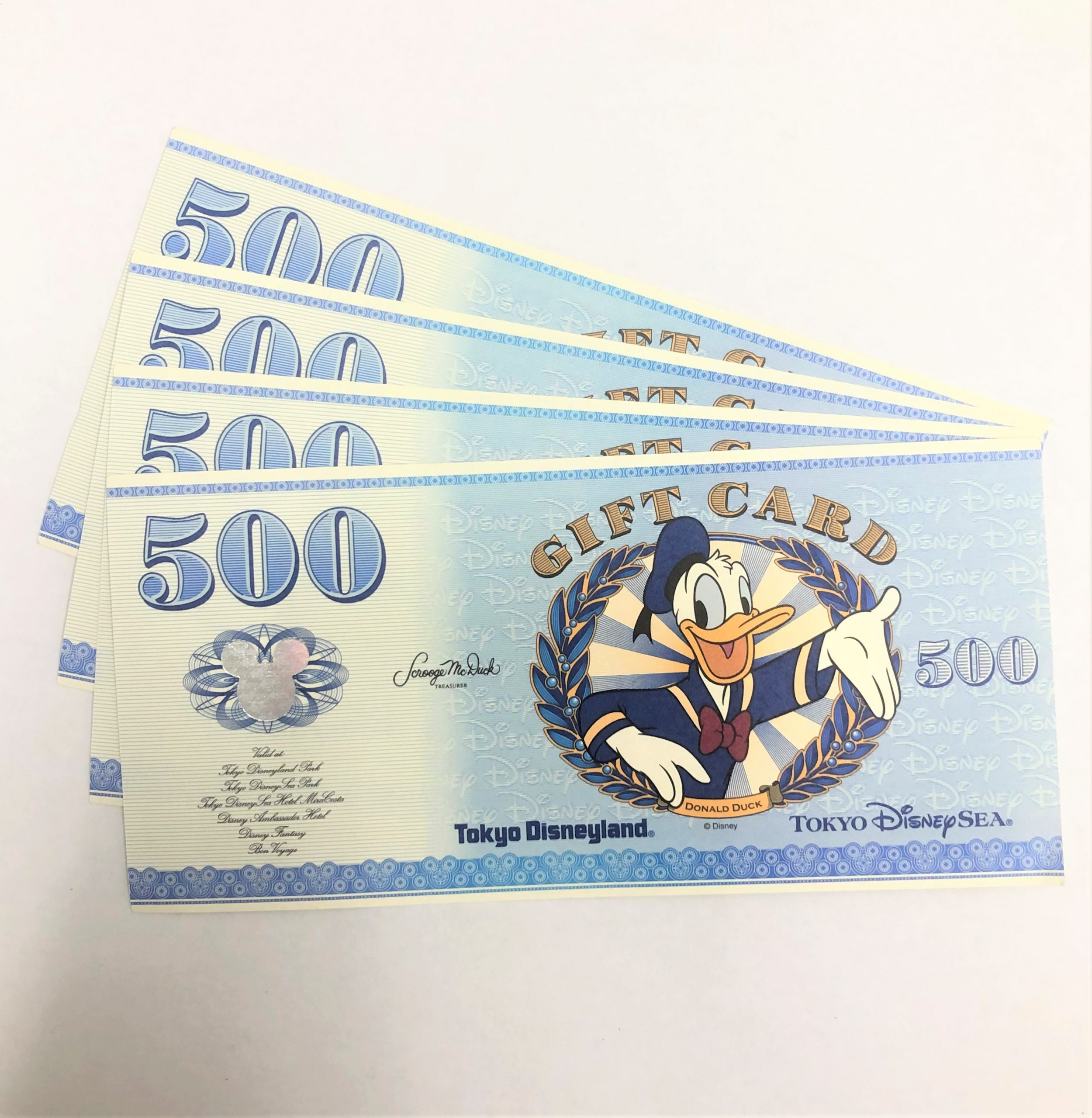 ディズニーリゾートギフトカード 500円