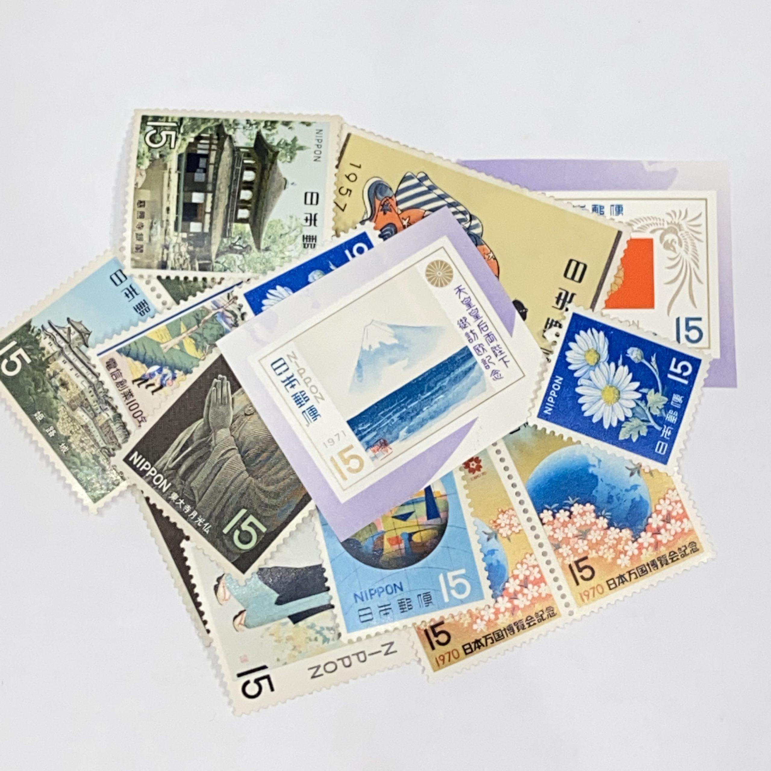 日本バラ切手 15円
