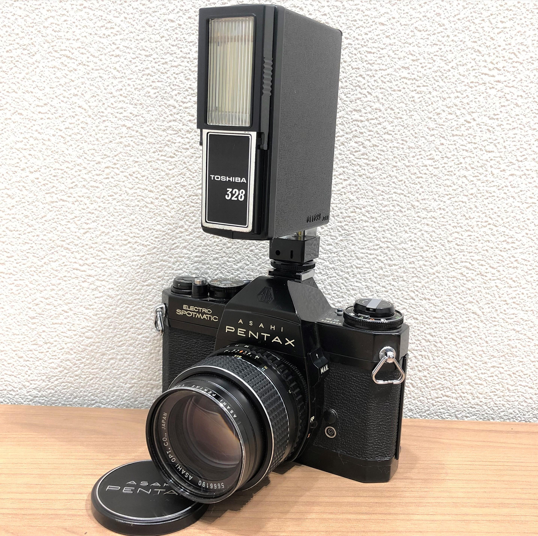 【ASAHI PENTAX/アサヒペンタックス】エレクトロスポットマチック TAKUMAR 1.4 50 一眼レフフィルムカメラ