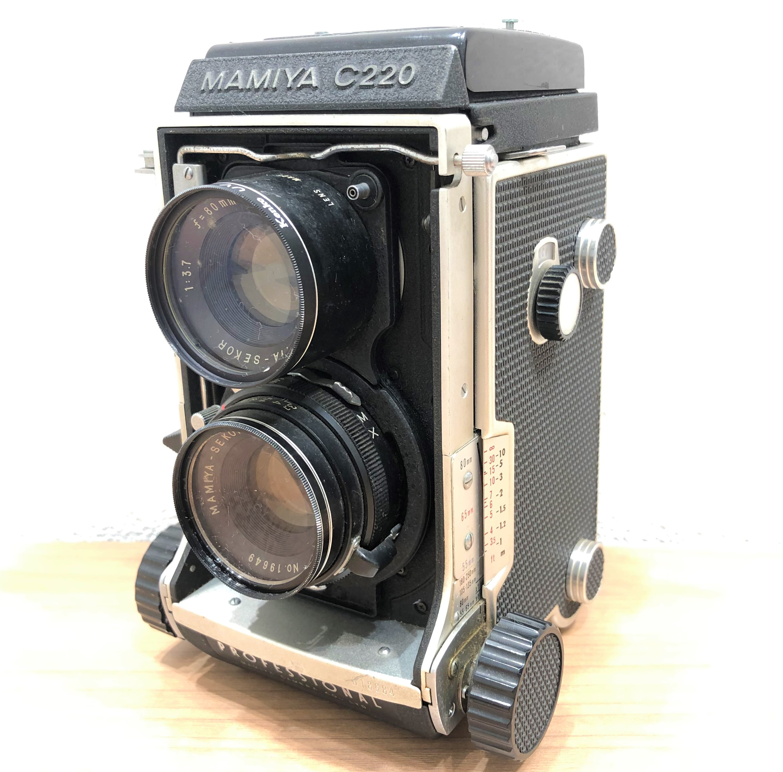 【MAMIYA/ミヤマ】C220 13.7 f=80mm 二眼レフカメラ