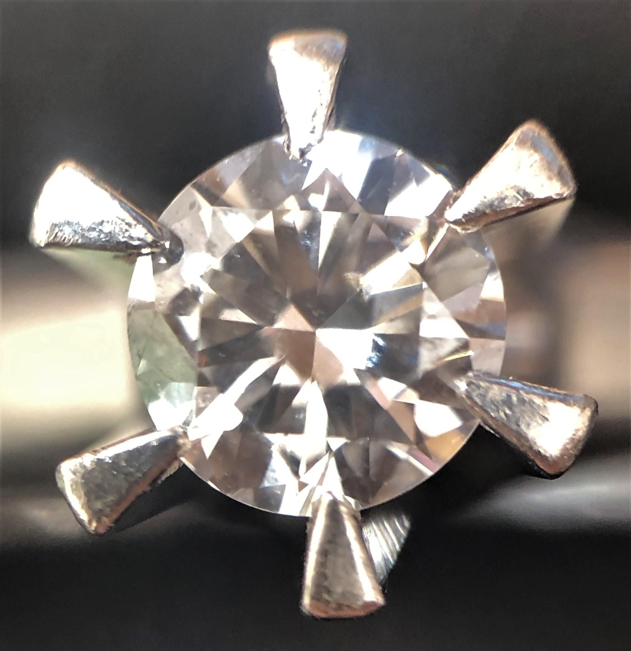 Pt900 リング ダイヤモンド0.29ct