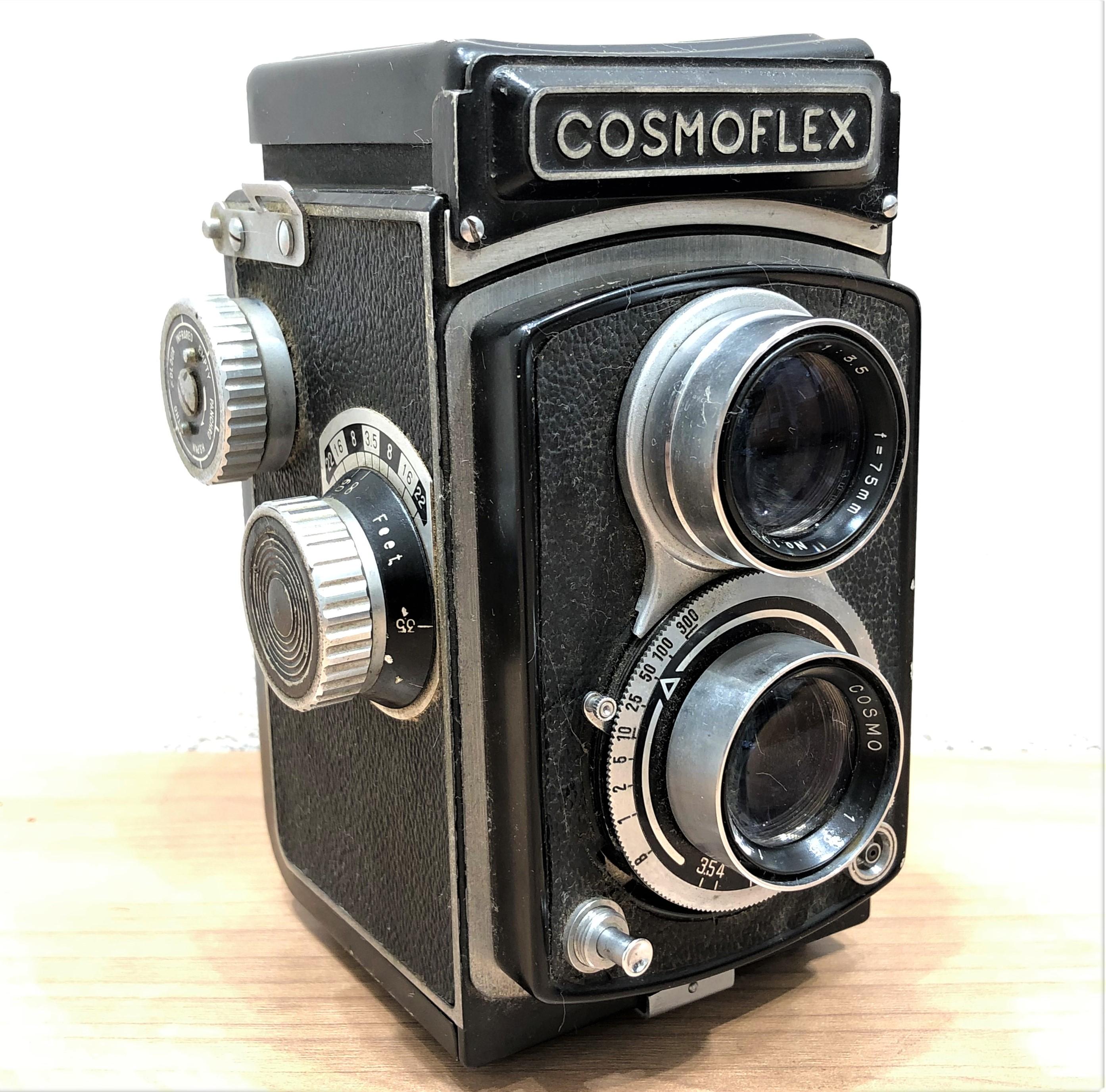 【COSMOFLEX/コスモフレックス】1:3.5 f=75mm 二眼レフカメラ