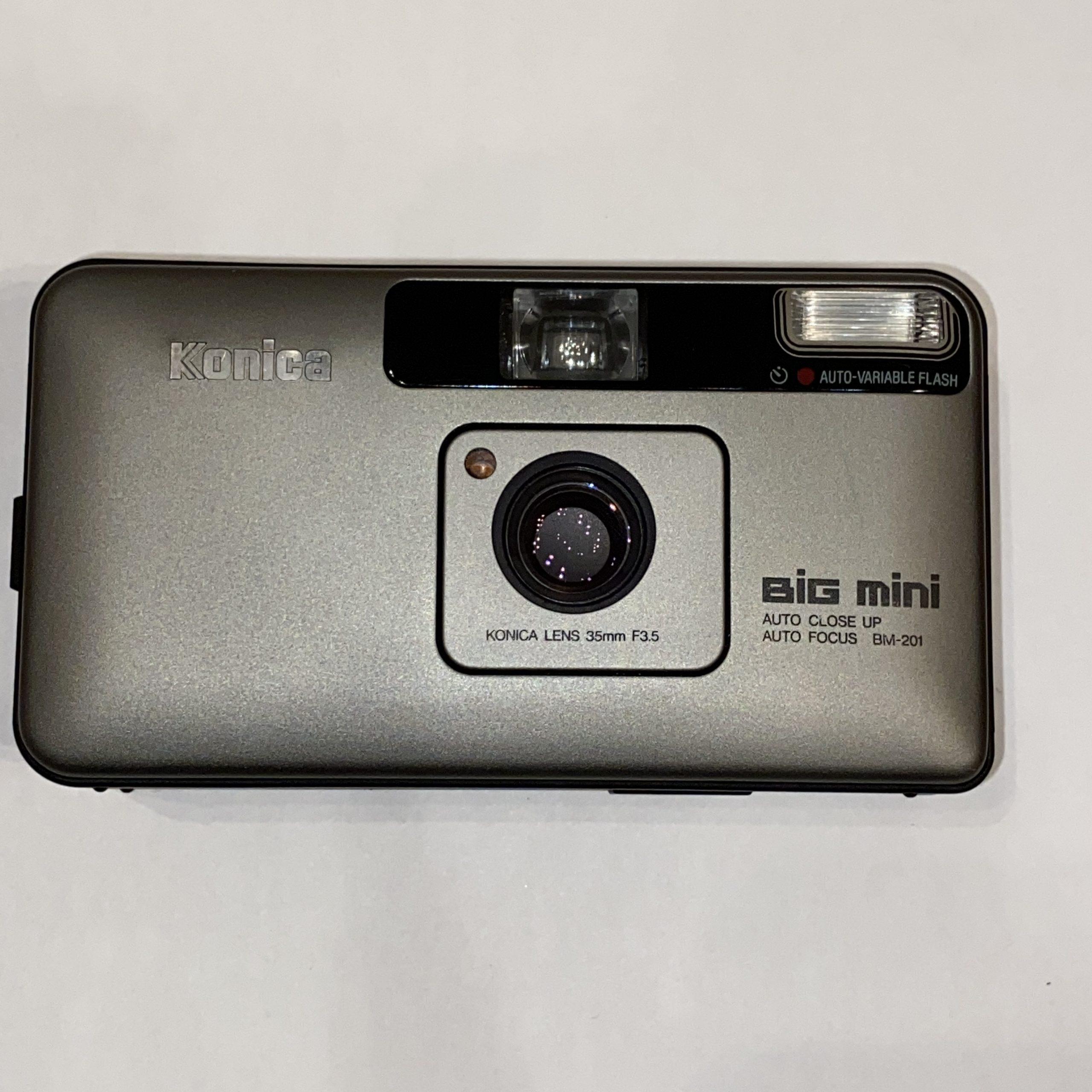 【Konica/コニカ】Big mini BM-201 コンパクトフィルムカメラ ケース付き
