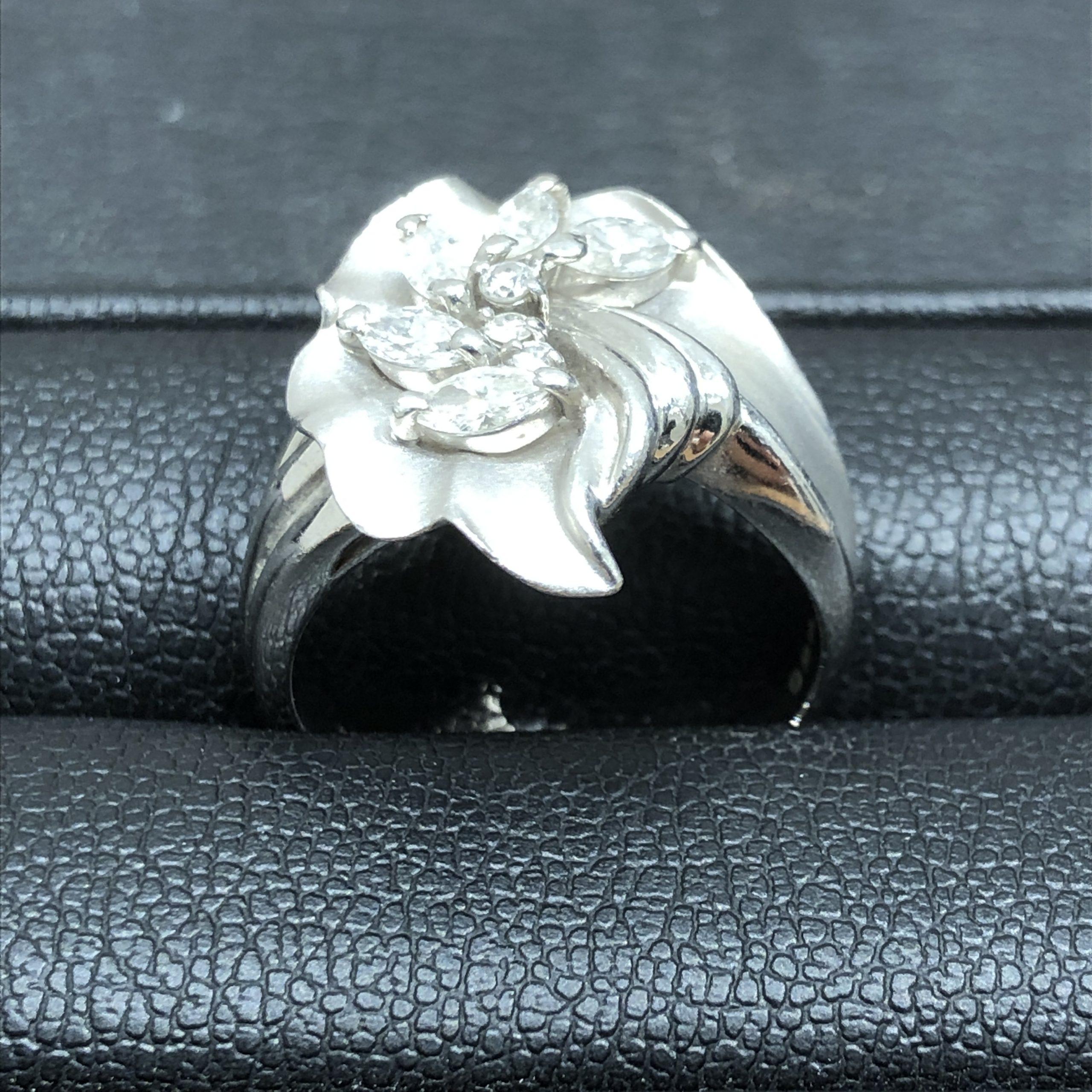 【Pt900/プラチナ900】ダイヤモンド リング/指輪