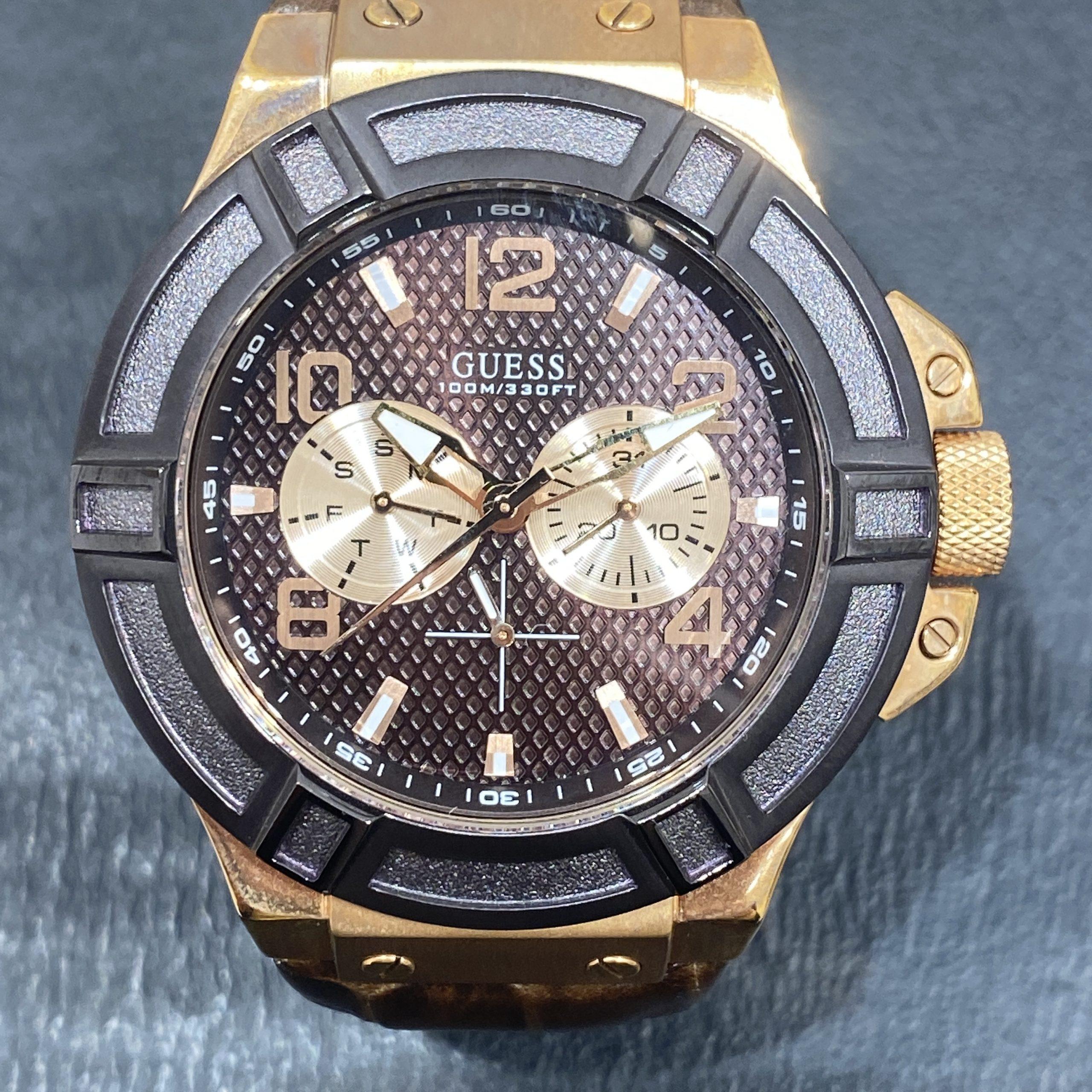 【GUESS/ゲス】クオーツ時計 W0040G3 ゴールド メンズ時計