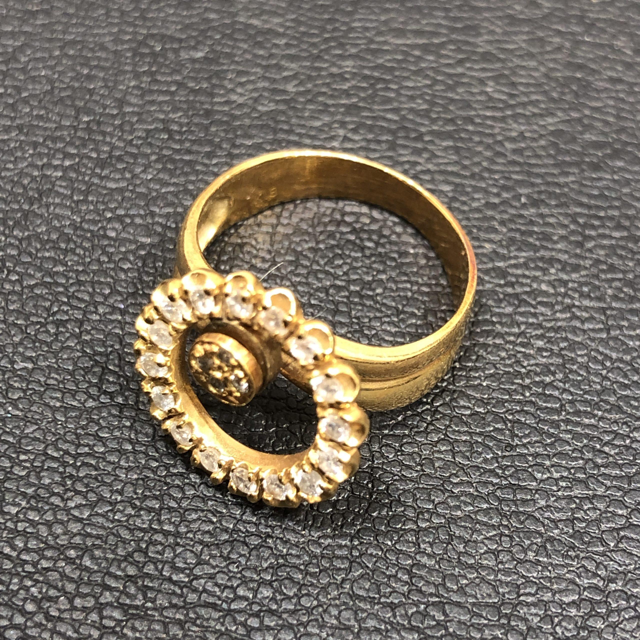 【K18/18金】指輪 MD0.42ct