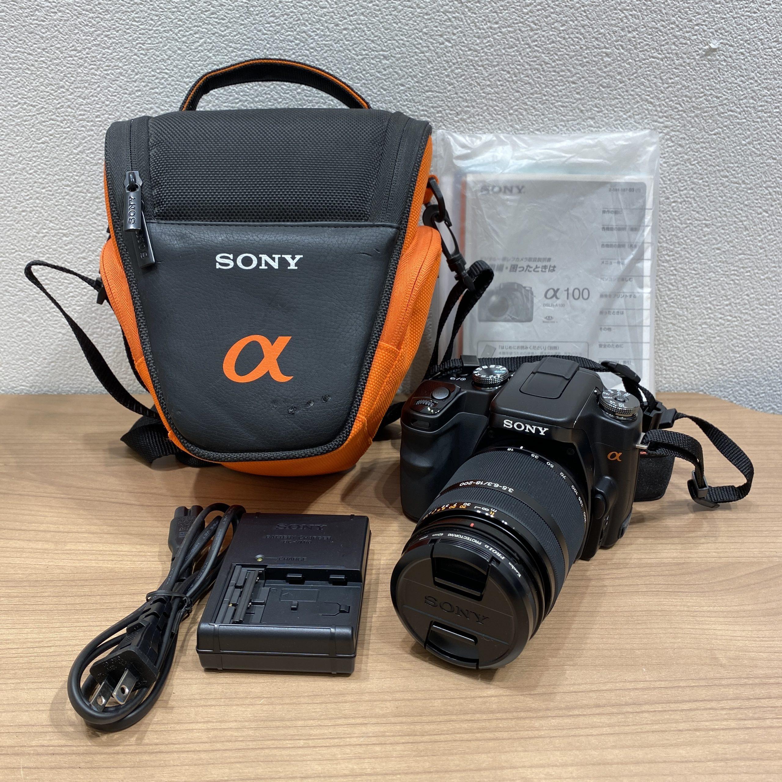 【SONY/ソニー】a100 デジタル一眼レフカメラ DSLR-A100 レンズ DT 3.5-6.3/18-200