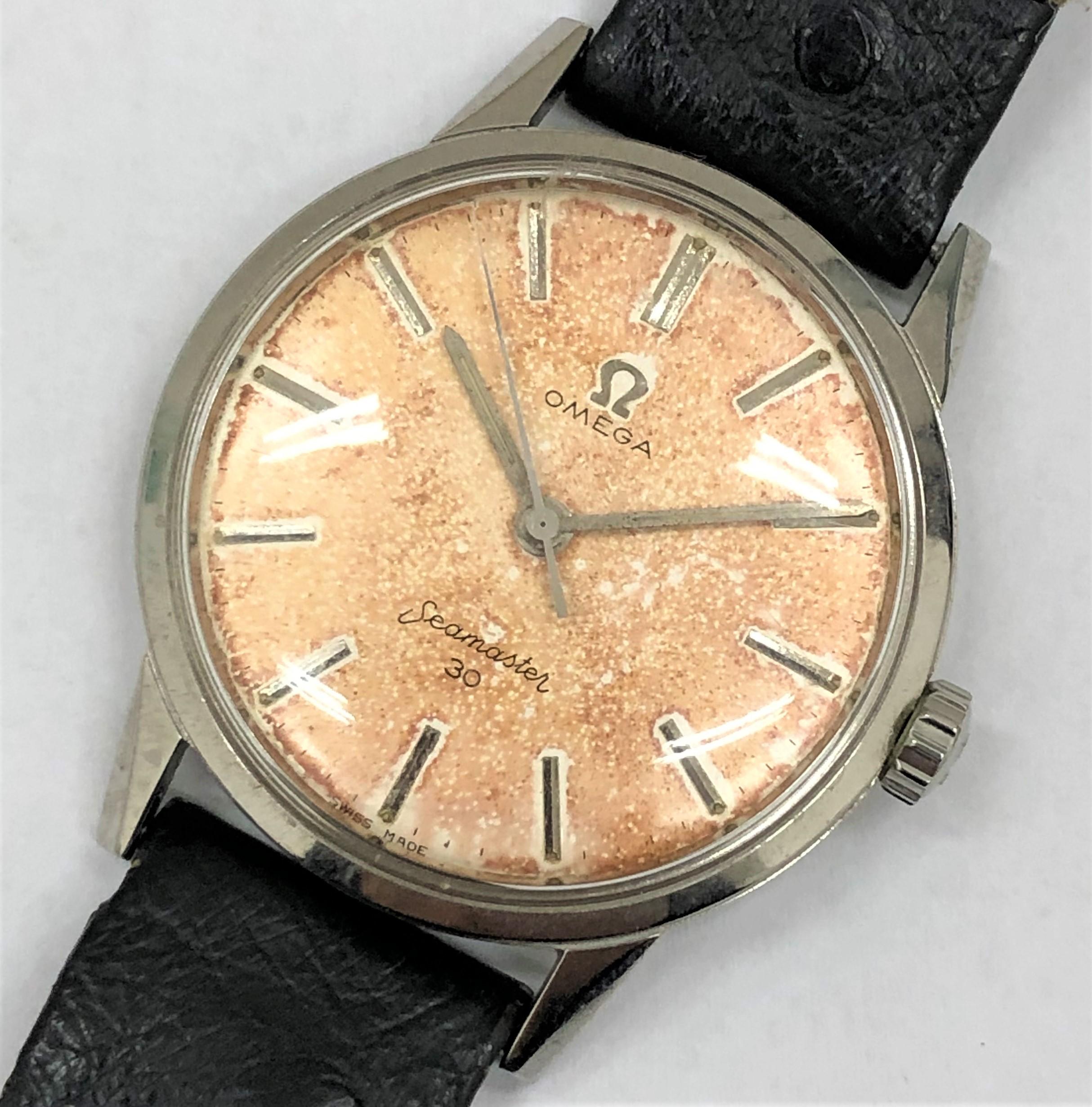 【OMEGA/オメガ】シーマスター30 ヴィンテージ 手巻き 腕時計 文字盤焼け有