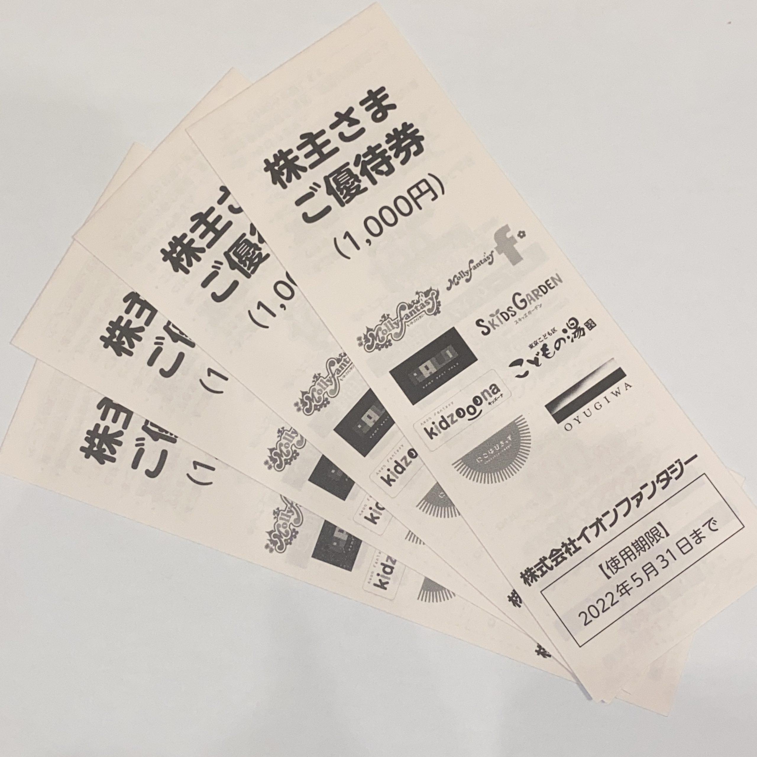 イオンファンタジー 株主優待券
