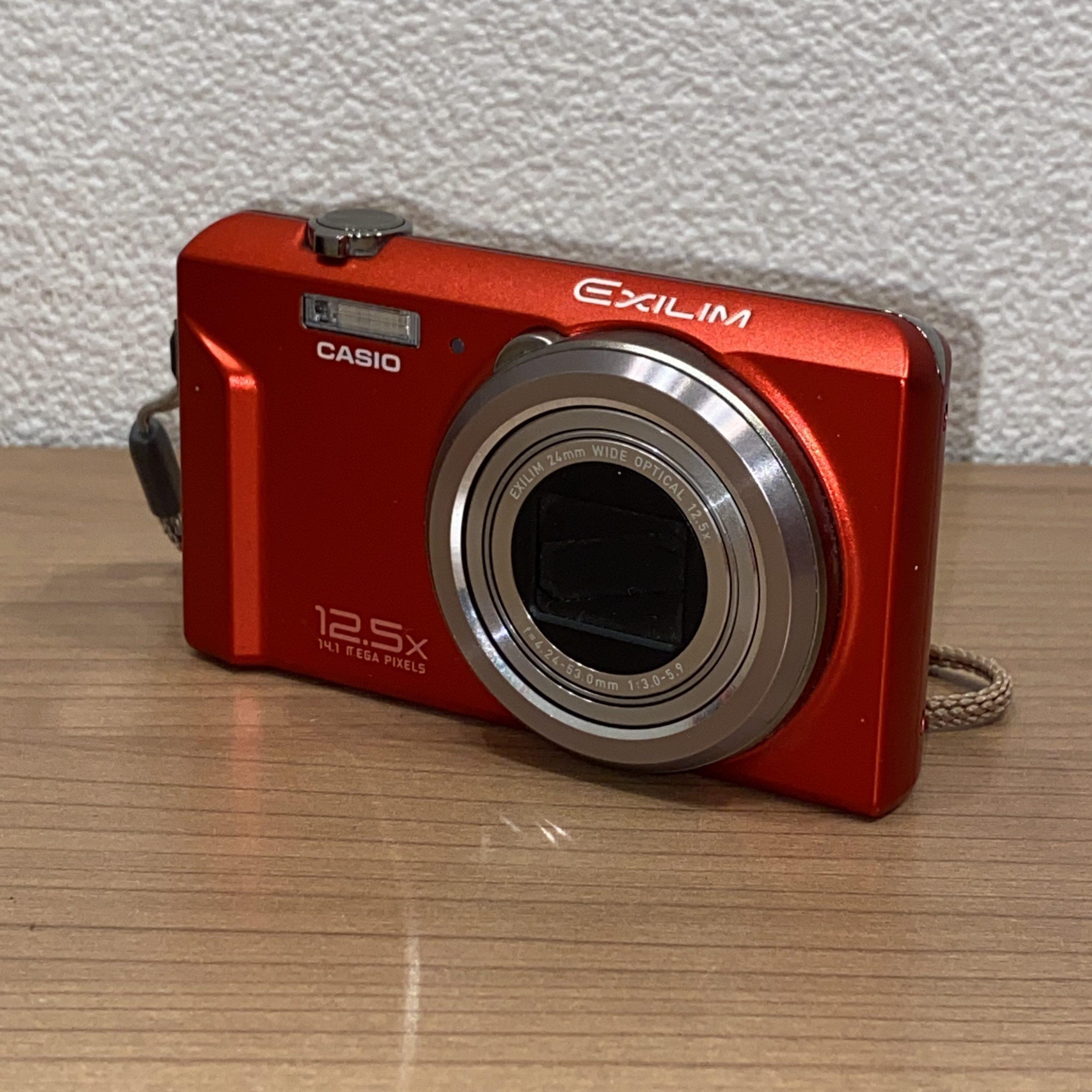 【CASIO/カシオ】EXILIM/エクシリム EX-ZS100 コンパクトデジタルカメラ(デジカメ) レッド/赤