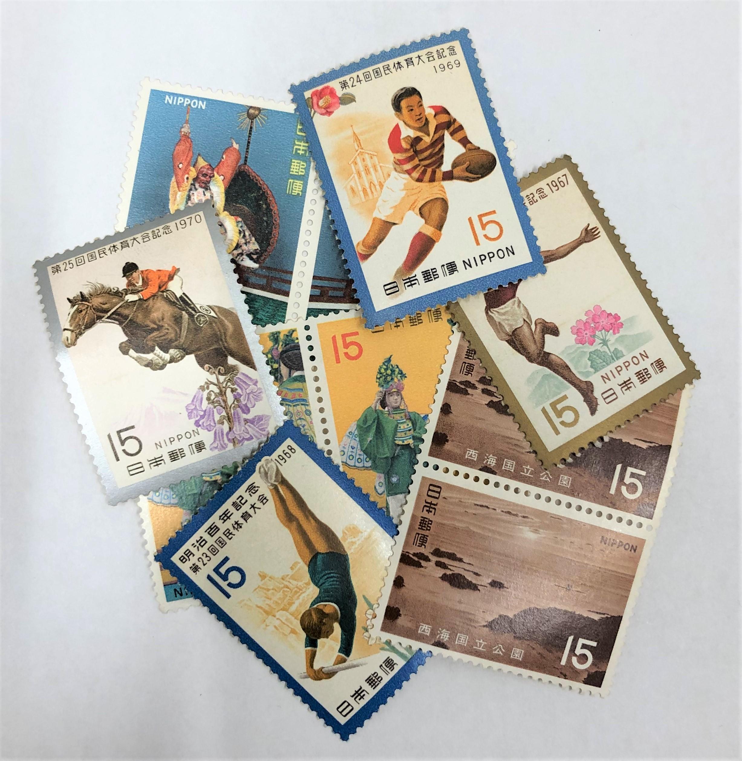 バラ切手 15円