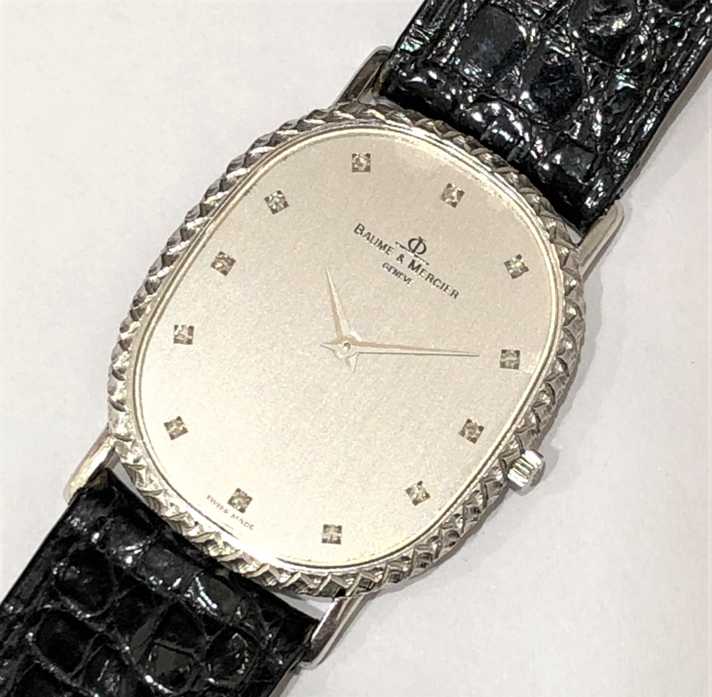 【BAUME&MERCIER/ボーム&メルイシェ】18K ダイヤ12P QZ 腕時計