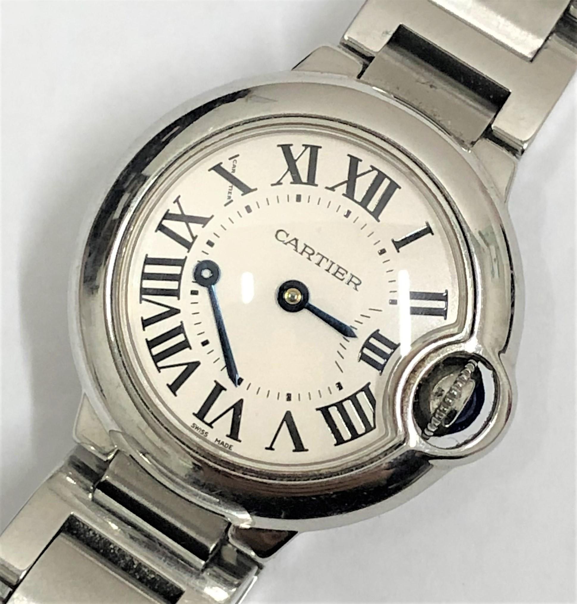 【Cartier/カルティエ】バロンブルーSM W6910Z4 QZ 腕時計 分針取れ有