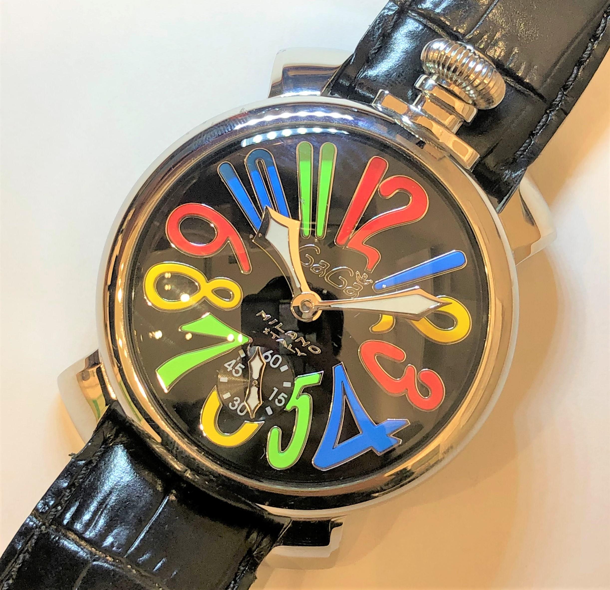 【GAGA MILANO/ガガミラノ】マヌアーレ 501002SBLK 手巻き 腕時計