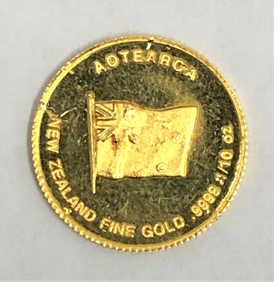K24 ニュージーランド ゴールドキウイ1/10oz 金貨