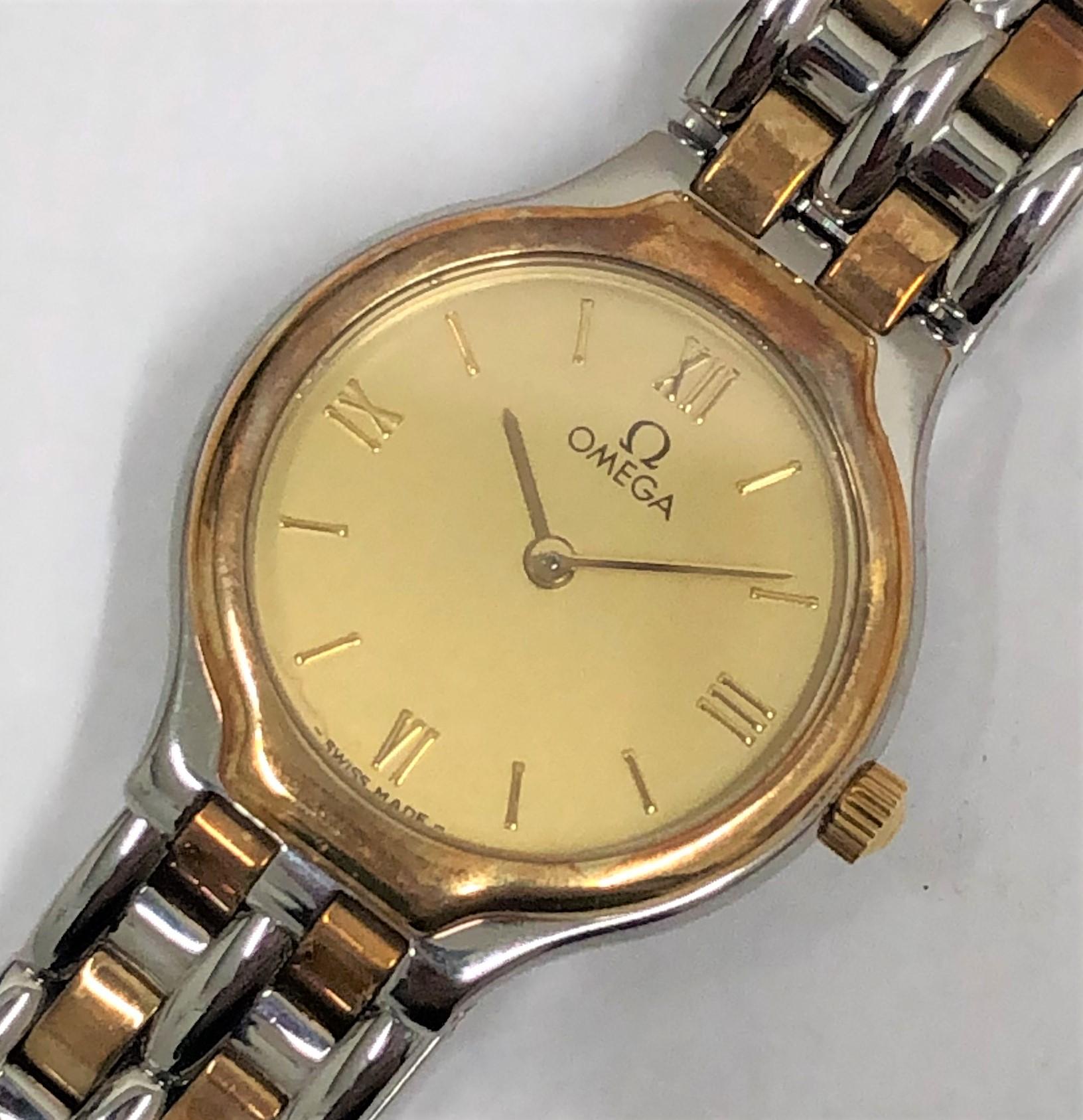 【OMEGA/オメガ】デビル レディース コンビ 4260.1300 QZ 腕時計