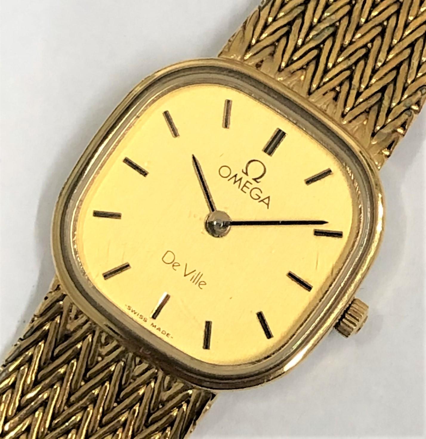 【OMEGA/オメガ】デビル レディース QZ 腕時計