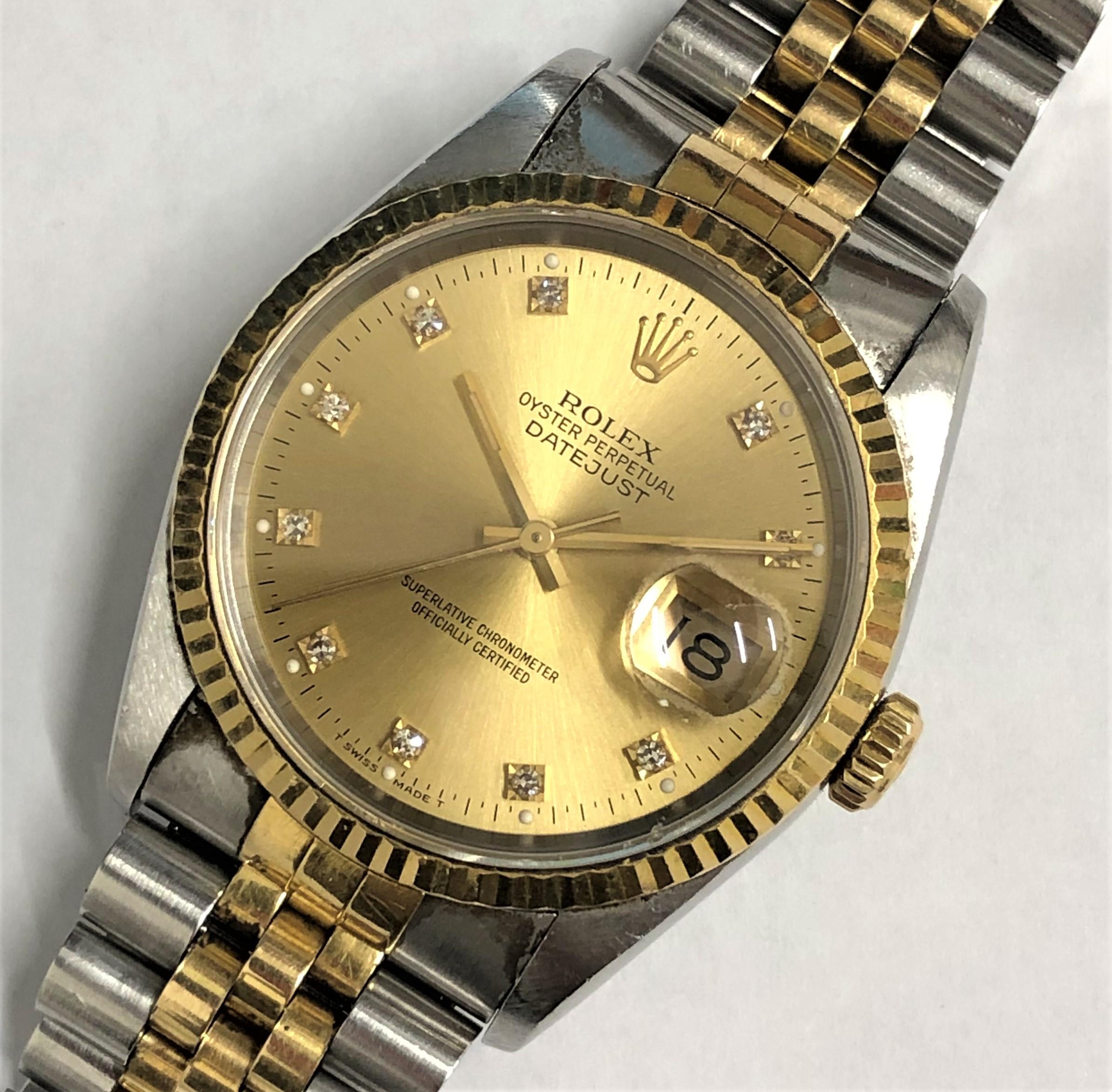 【ROLEX/ロレックス】デイトジャスト 10P 16233 X番 AT 腕時計