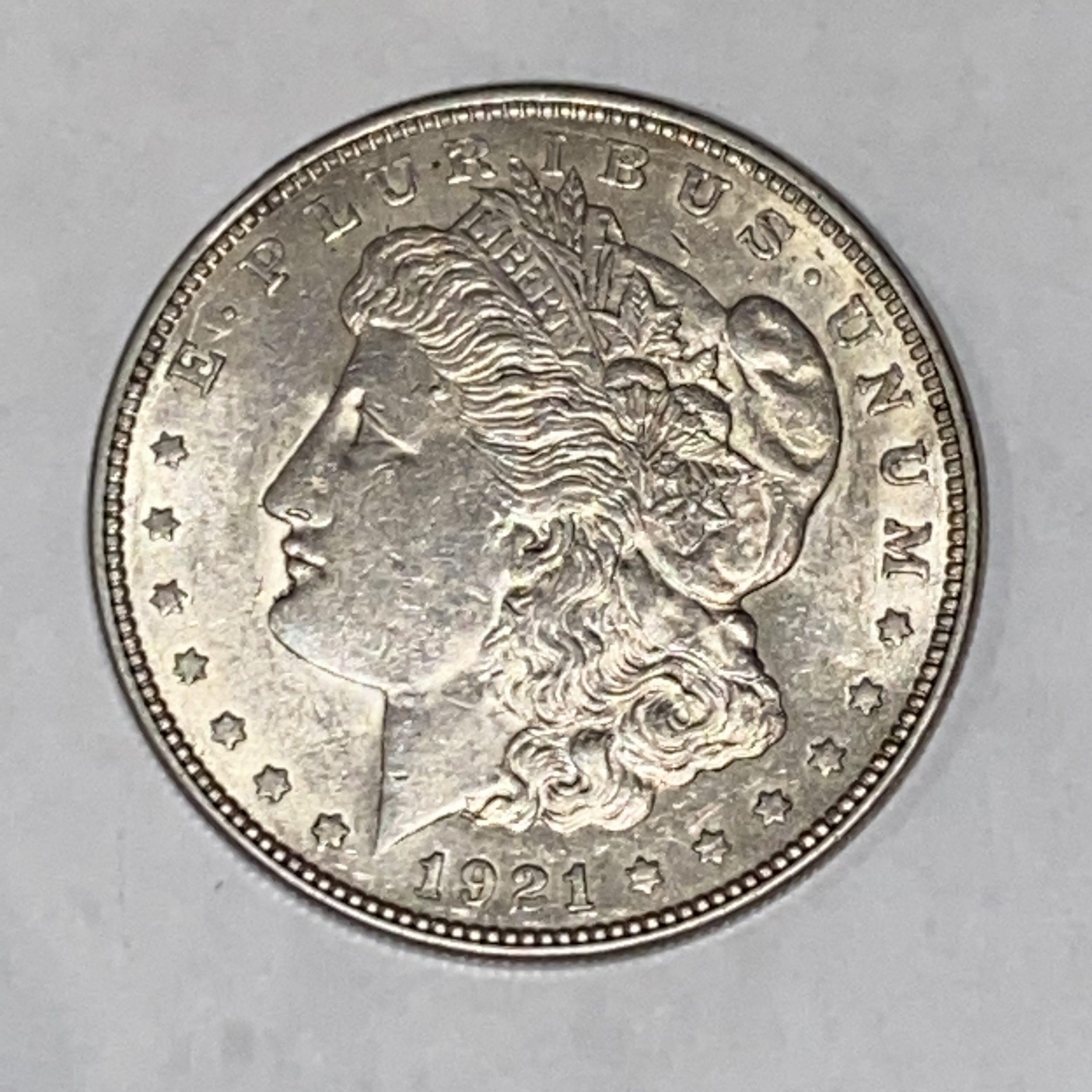 【外国銭/外国銀貨】1ドル モルガンダラー アメリカ 1921年