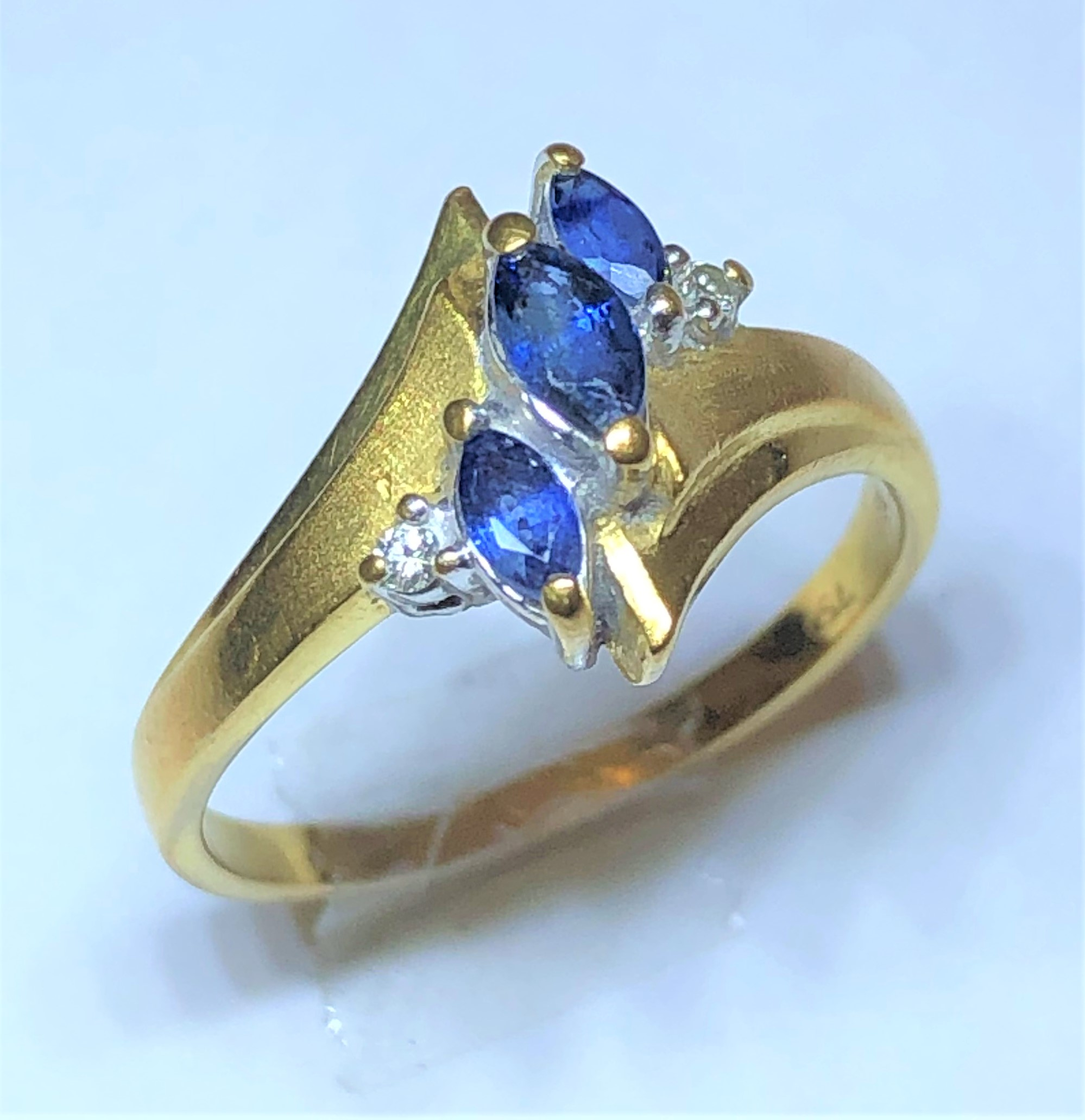 K18 リング MD0.02ct S0.3ct