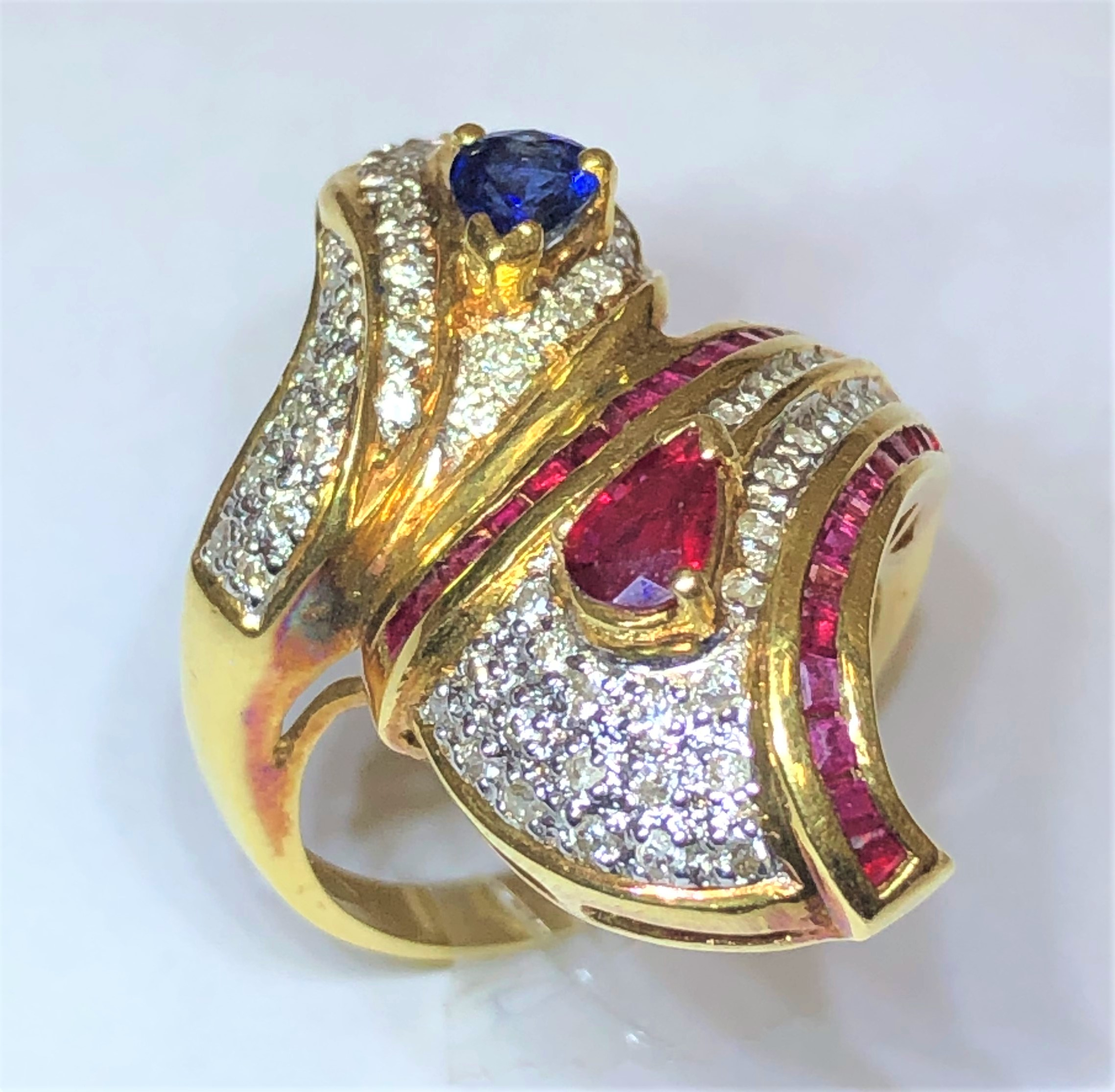 K18 リング R0.33ct S0.42ct MD0.4ct R0.58ct