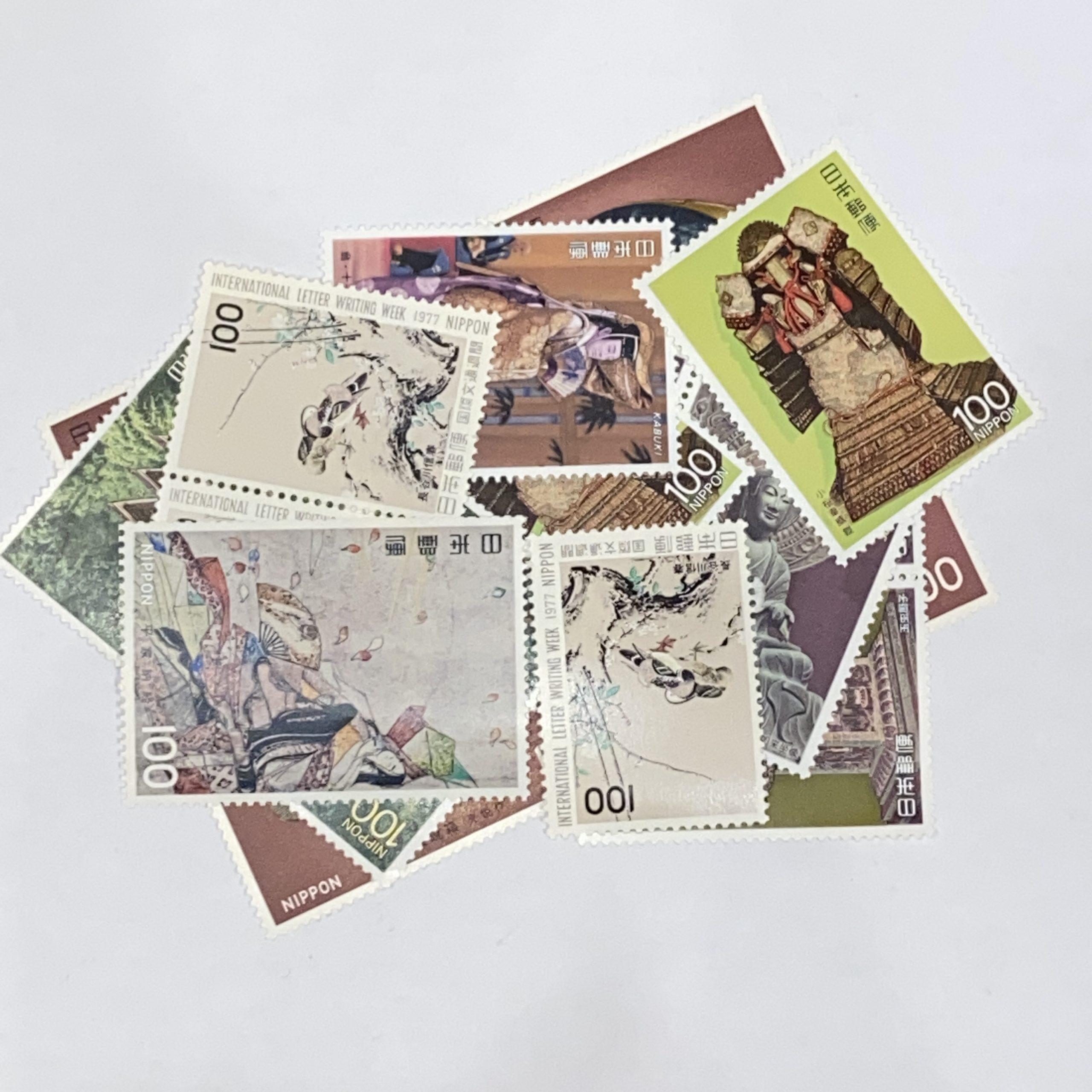 日本バラ切手 100円